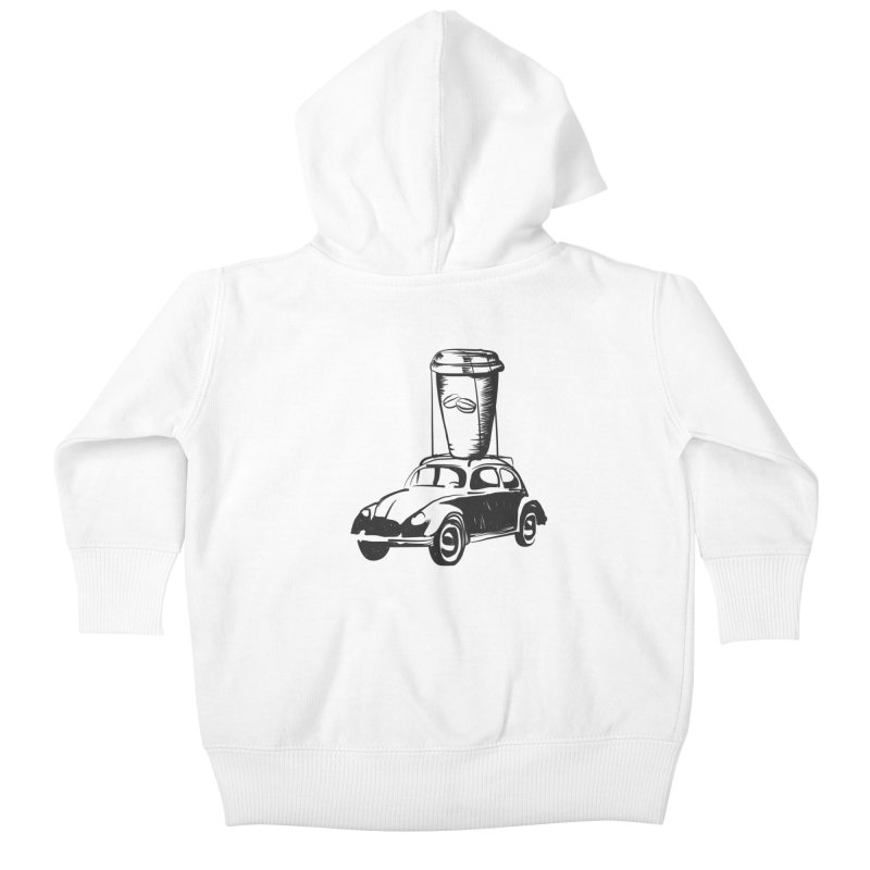 Coffee to Go Kids Baby Zip-Up Hoody by Coffee Pine Studio