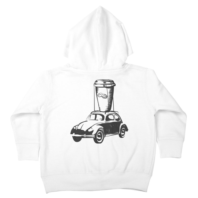 Coffee to Go Kids Toddler Zip-Up Hoody by Coffee Pine Studio
