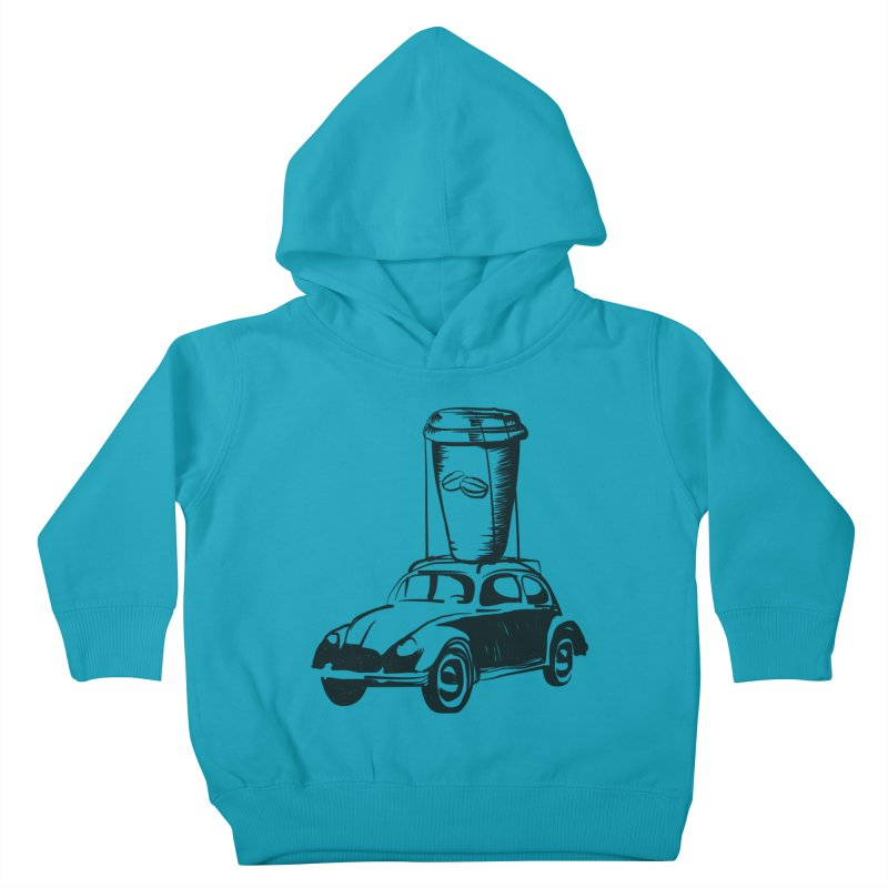 Coffee to Go Kids Toddler Pullover Hoody by Coffee Pine Studio