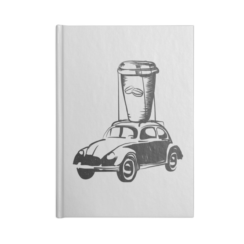Coffee to Go Accessories Lined Journal Notebook by Coffee Pine Studio