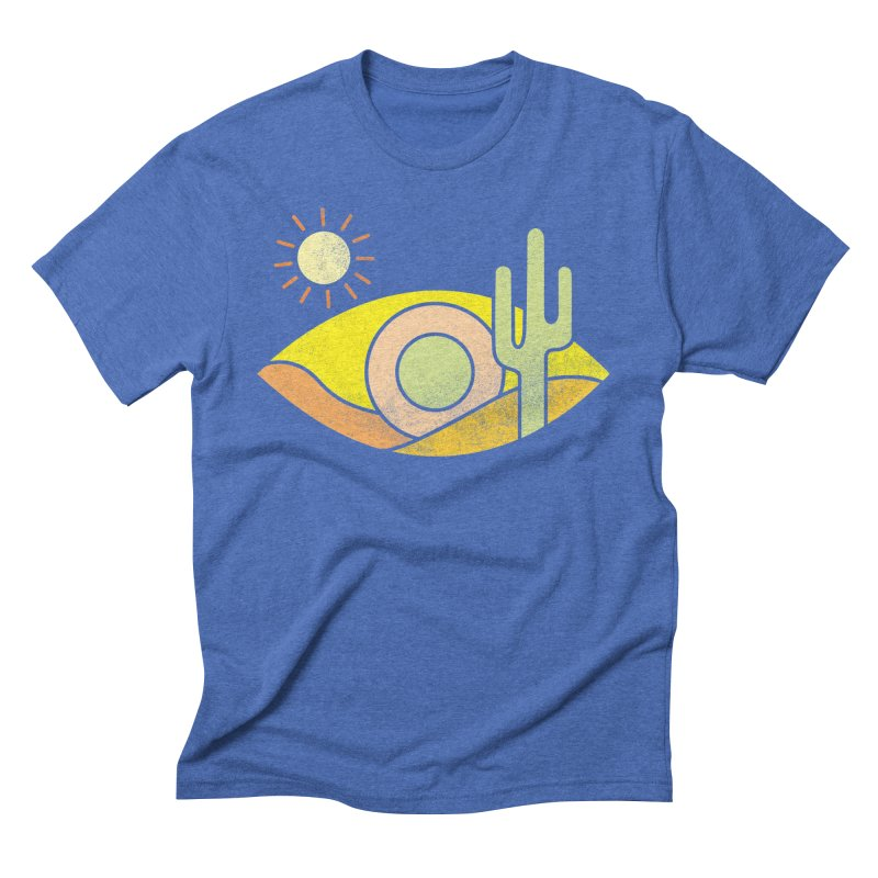 Dry Eye in Men's Triblend T-Shirt Blue Triblend by Coffee Pine Studio