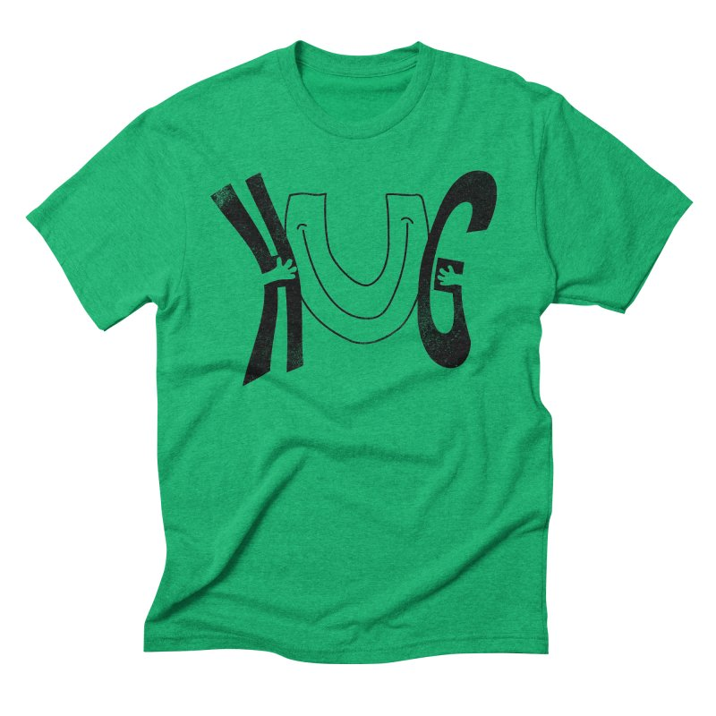 Hug U Men's Triblend T-Shirt by Coffee Pine Studio