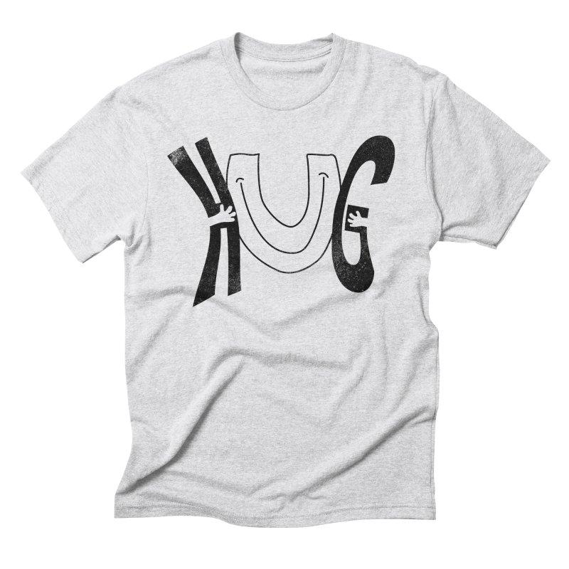 Hug U Men's Triblend T-Shirt by Coffee Pine Studio