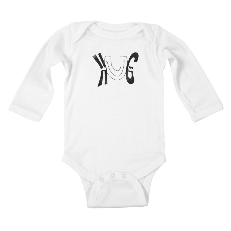 Hug U Kids Baby Longsleeve Bodysuit by Coffee Pine Studio