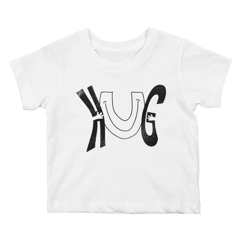 Hug U Kids Baby T-Shirt by Coffee Pine Studio