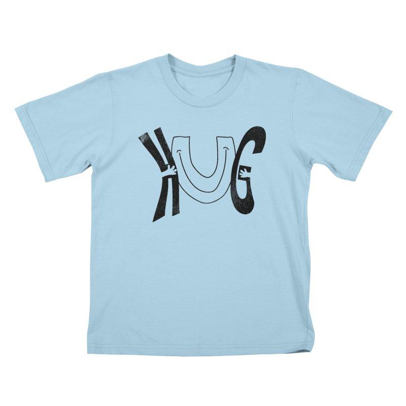 Hug U Kids T-Shirt by Coffee Pine Studio