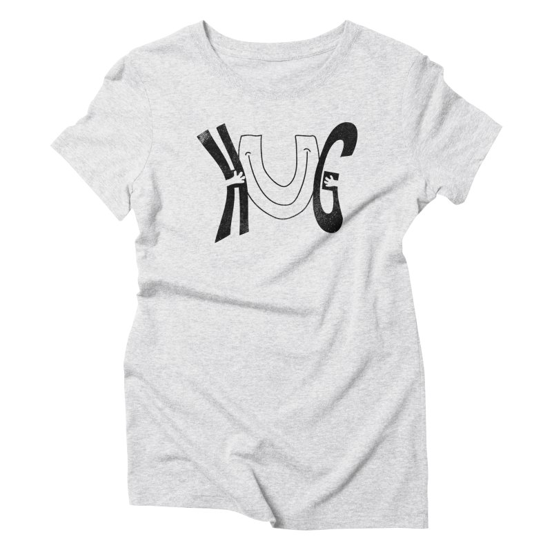 Hug U Women's Triblend T-Shirt by Coffee Pine Studio