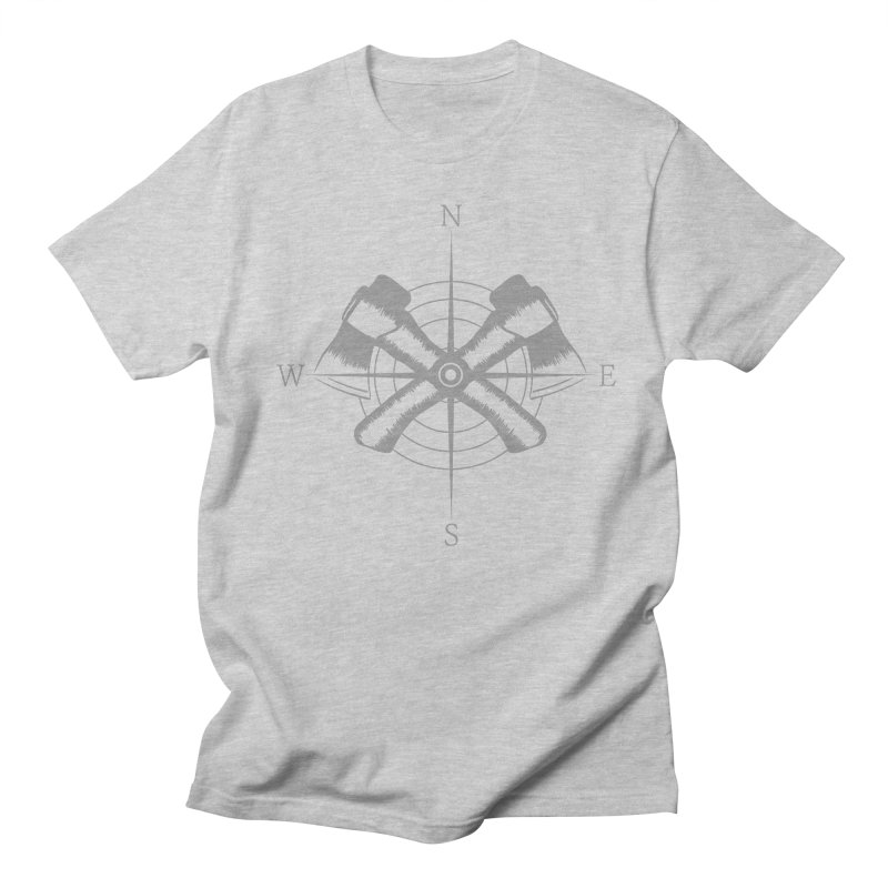 Compass in Men's Regular T-Shirt Heather Grey by Coffee Pine Studio
