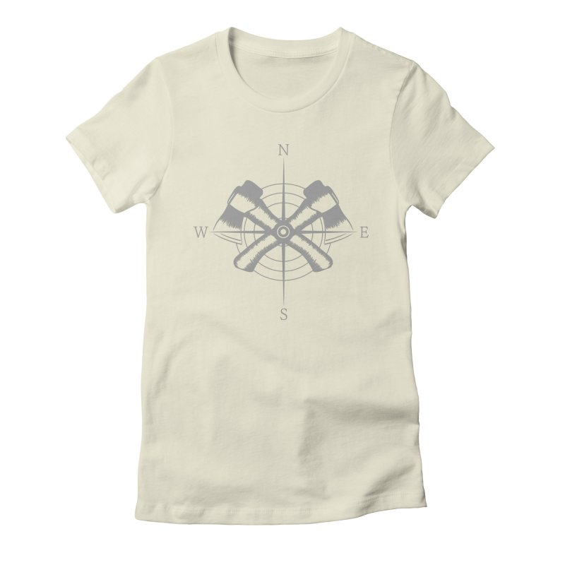 Compass Women's Fitted T-Shirt by Coffee Pine Studio