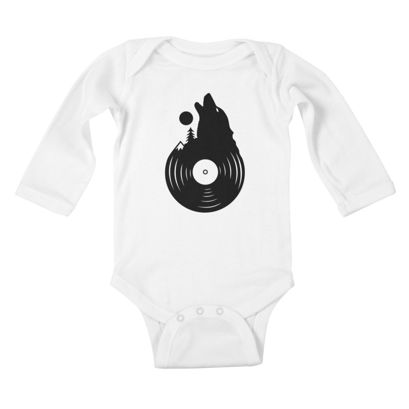 Nature on Vinyl Kids Baby Longsleeve Bodysuit by Coffee Pine Studio