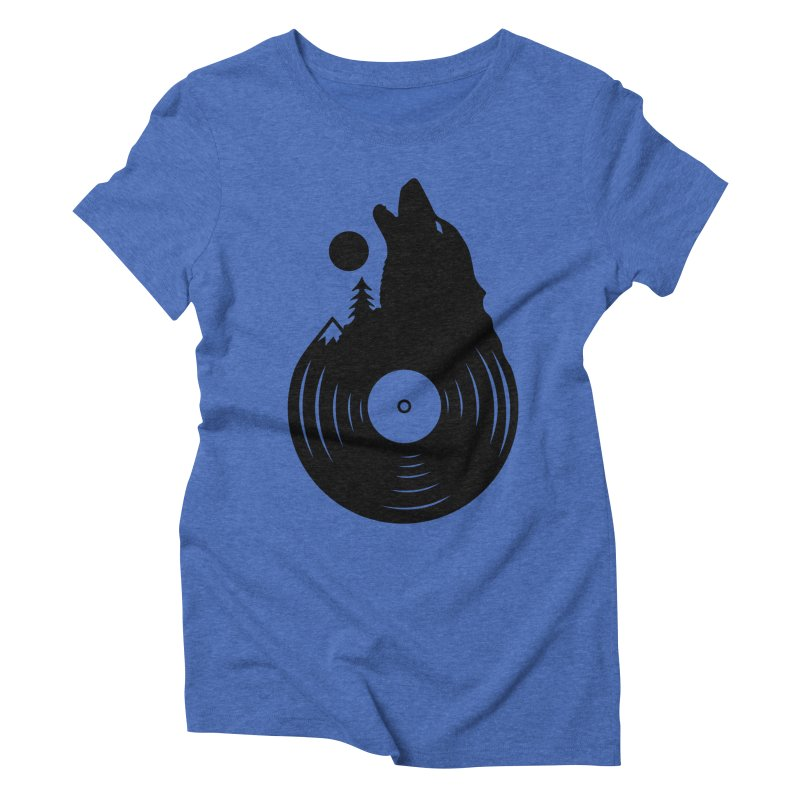 Nature on Vinyl Women's Triblend T-shirt by Coffee Pine Studio