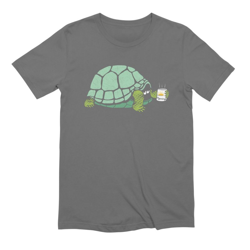 Mornings is Hard Men's Extra Soft T-Shirt by Coffee Pine Studio