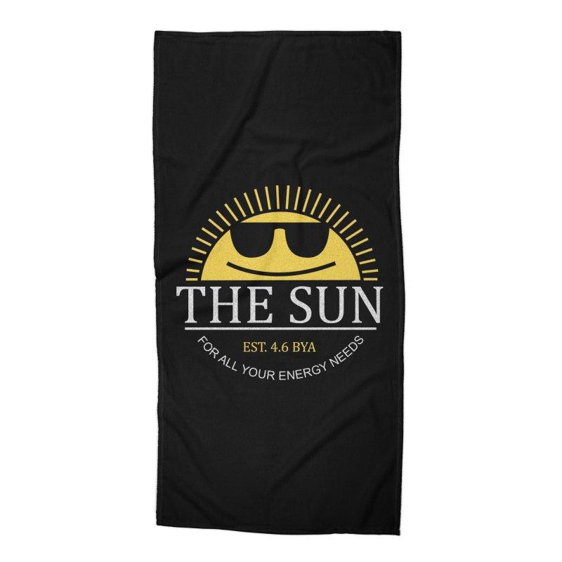 The Sun Accessories Beach Towel by Coffee Pine Studio