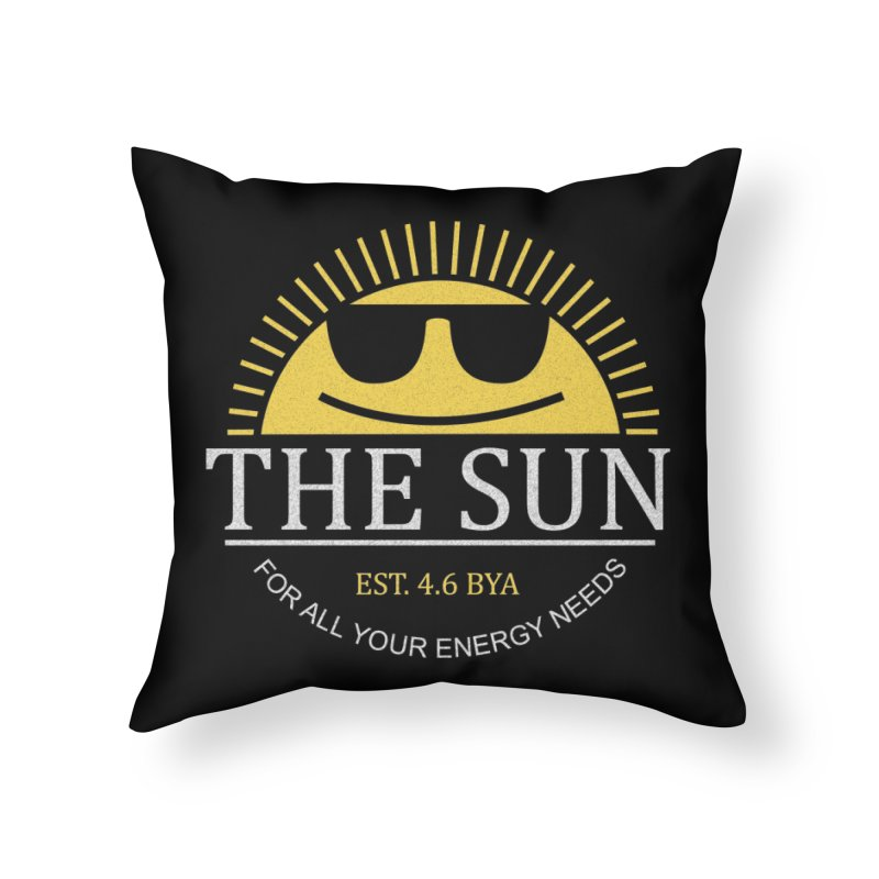 The Sun Home Throw Pillow by Coffee Pine Studio