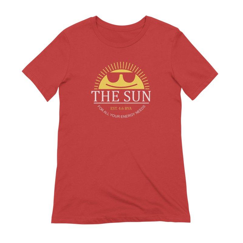 The Sun Women's Extra Soft T-Shirt by Coffee Pine Studio