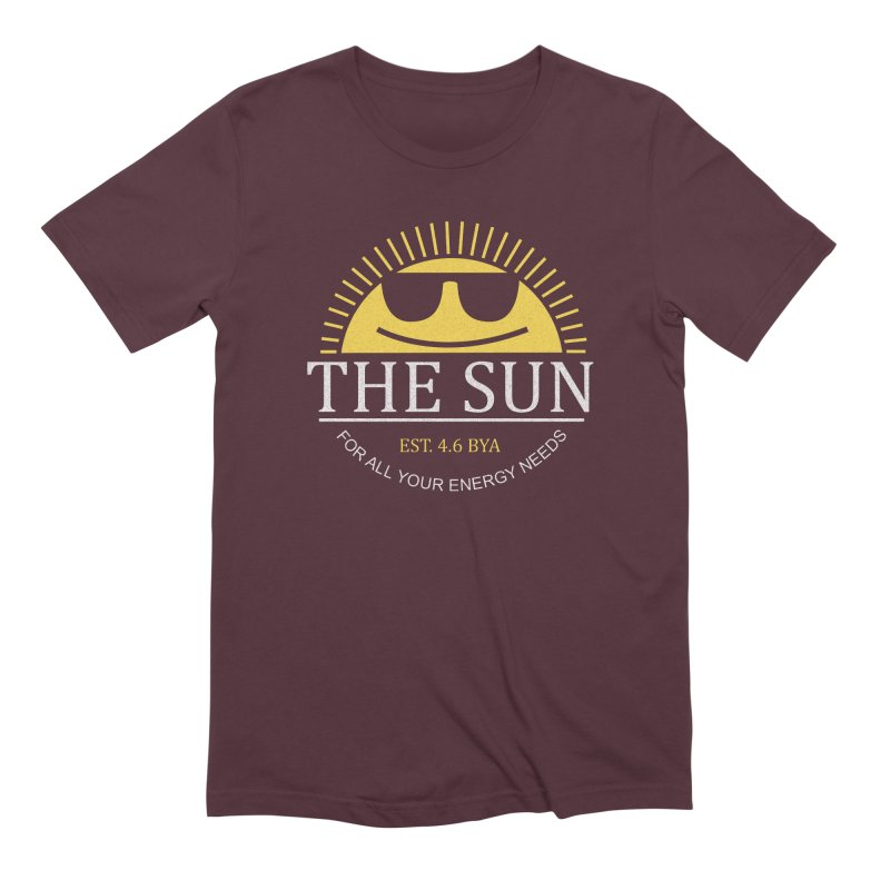 The Sun Men's Extra Soft T-Shirt by Coffee Pine Studio