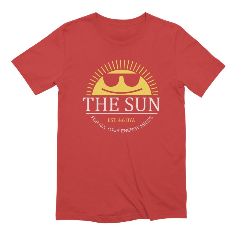 The Sun Men's Extra Soft T-Shirt by Coffee Pine Studio