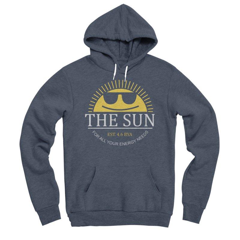 The Sun Men's Sponge Fleece Pullover Hoody by Coffee Pine Studio