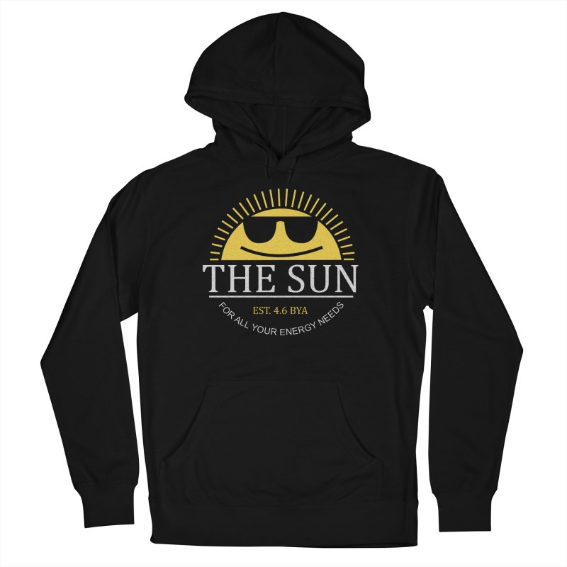 The Sun Men's French Terry Pullover Hoody by Coffee Pine Studio