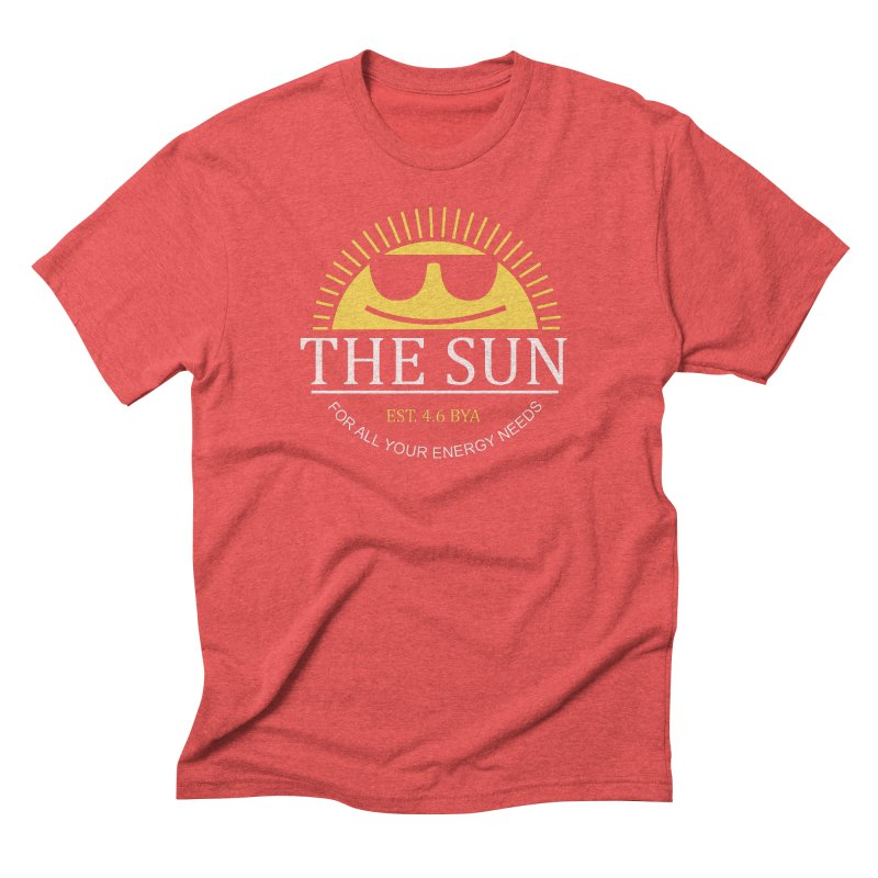 The Sun Men's Triblend T-Shirt by Coffee Pine Studio