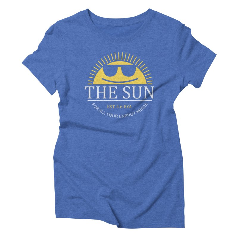 The Sun Women's Triblend T-Shirt by Coffee Pine Studio