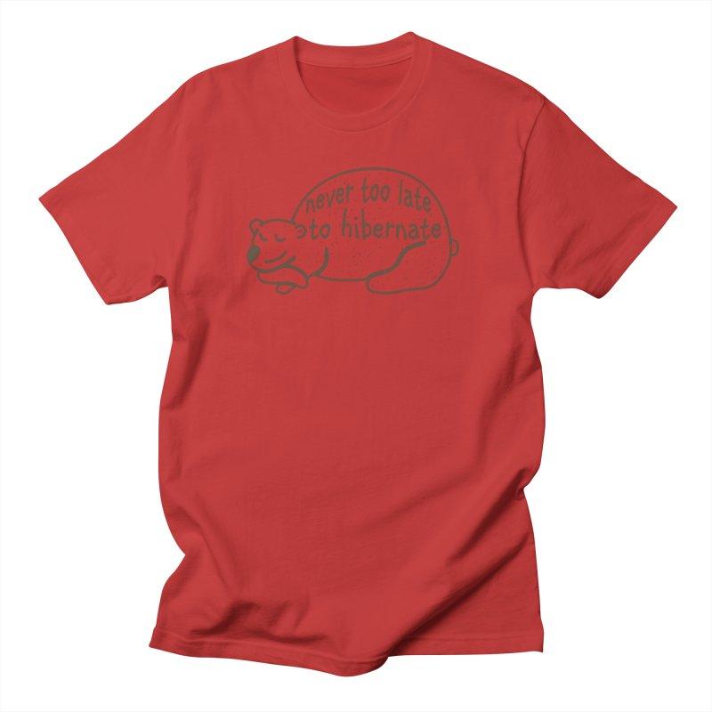 Never too Late to Hibernate Men's Regular T-Shirt by Coffee Pine Studio