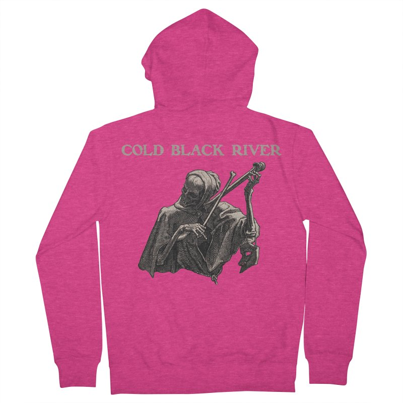 Tales of Death & The Devil Women's French Terry Zip-Up Hoody by COLD BLACK RIVER