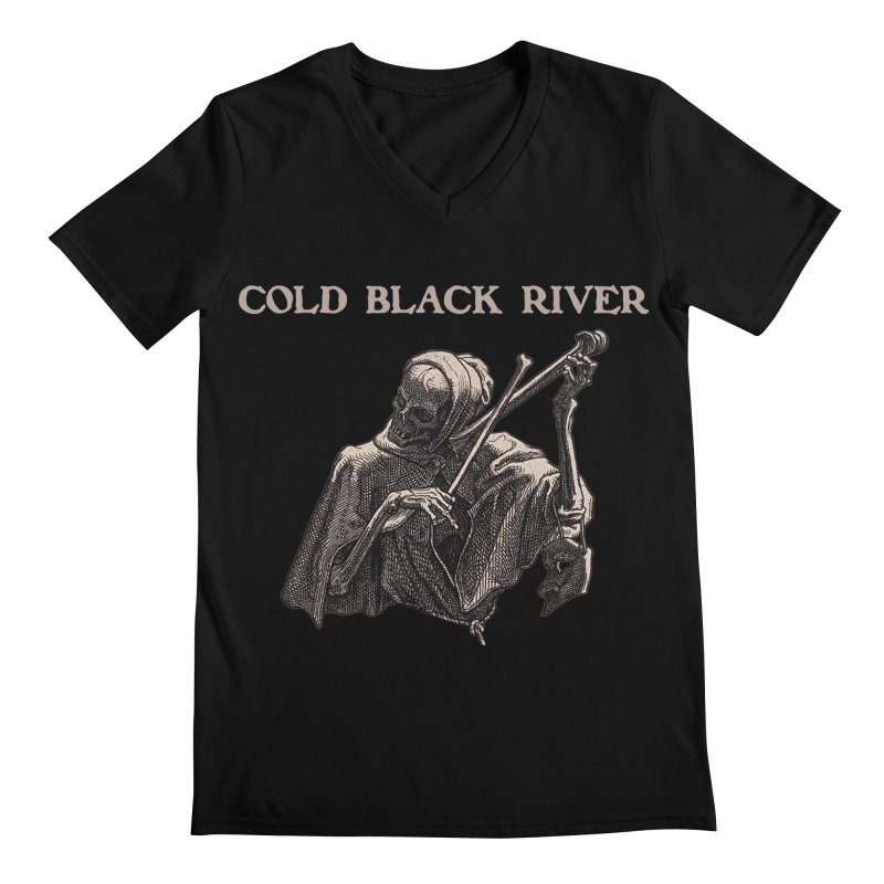 Tales of Death & The Devil Men's Regular V-Neck by COLD BLACK RIVER