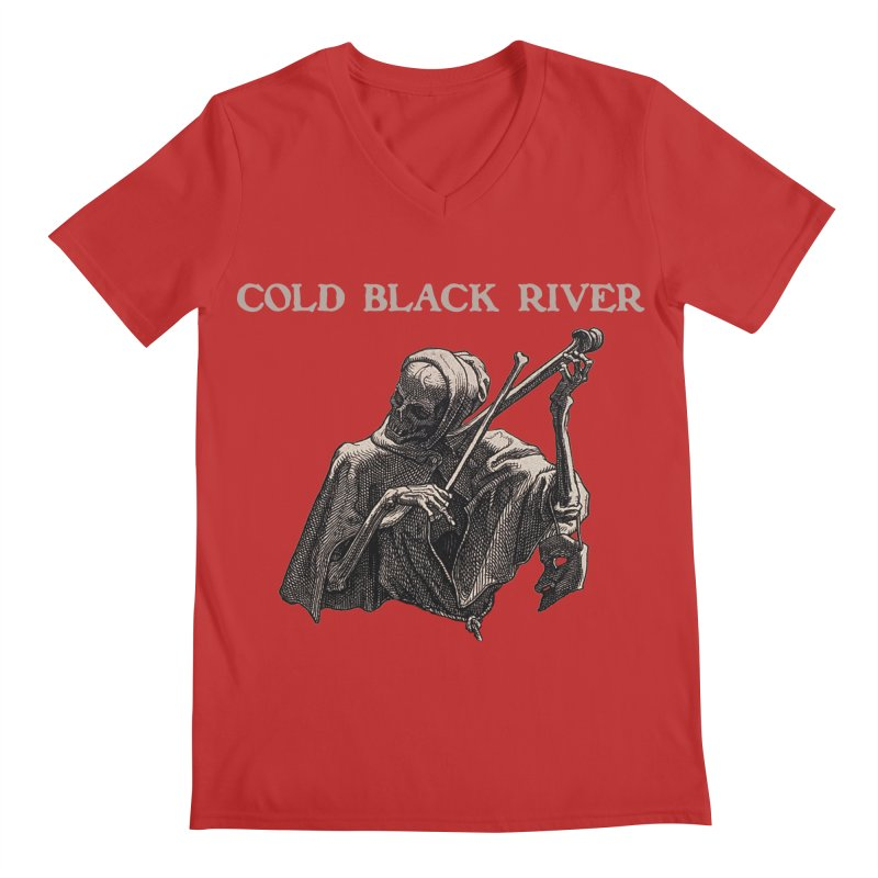 Tales of Death & The Devil Men's Regular V-Neck by COLD BLACK RIVER