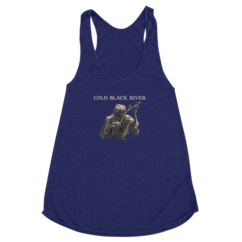 Tales of Death & The Devil Women's Racerback Triblend Tank by COLD BLACK RIVER