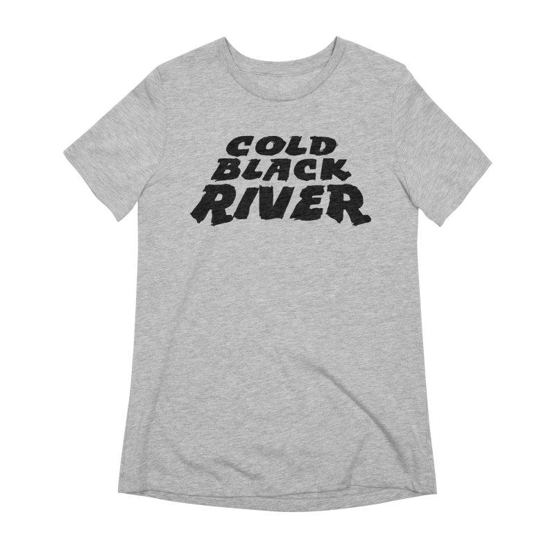 Cold Black River Original Logo Women's Extra Soft T-Shirt by COLD BLACK RIVER