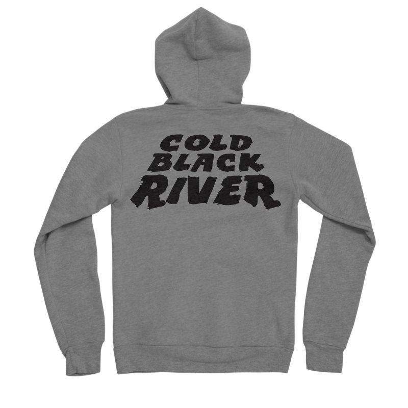 Cold Black River Original Logo Men's Sponge Fleece Zip-Up Hoody by COLD BLACK RIVER