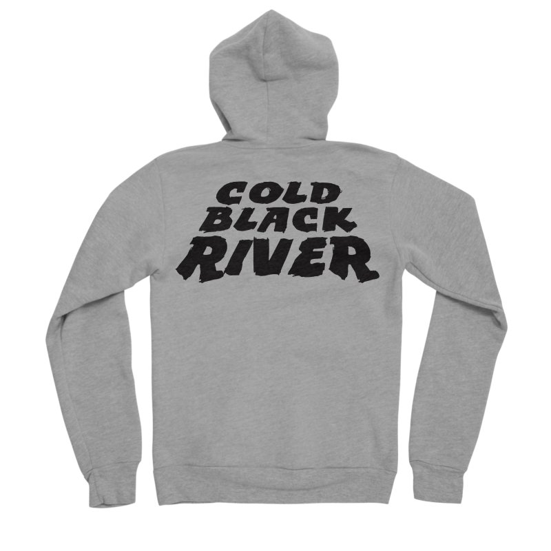 Cold Black River Original Logo Women's Sponge Fleece Zip-Up Hoody by COLD BLACK RIVER