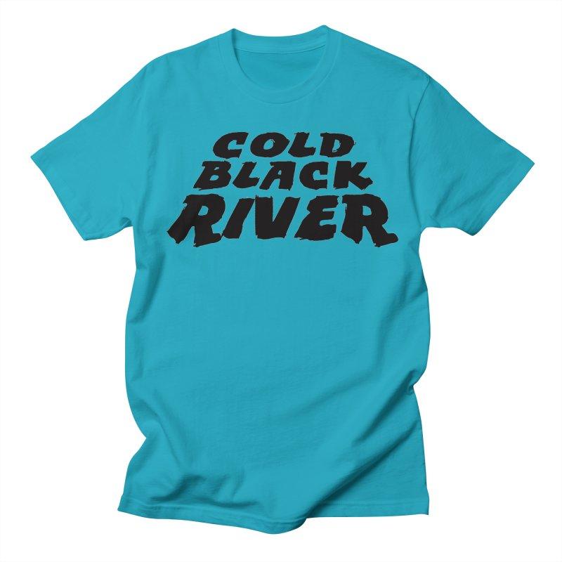 Cold Black River Original Logo Men's Regular T-Shirt by COLD BLACK RIVER
