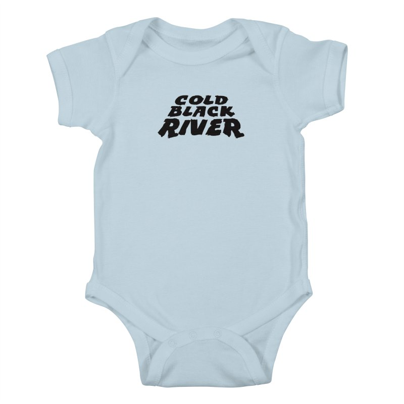 Cold Black River Original Logo Kids Baby Bodysuit by COLD BLACK RIVER