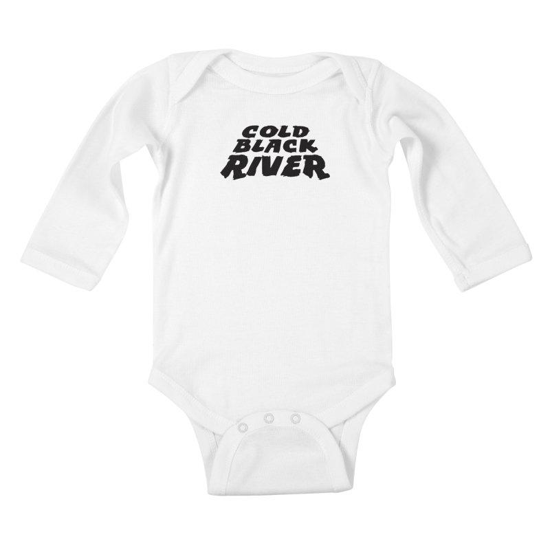Cold Black River Original Logo Kids Baby Longsleeve Bodysuit by COLD BLACK RIVER