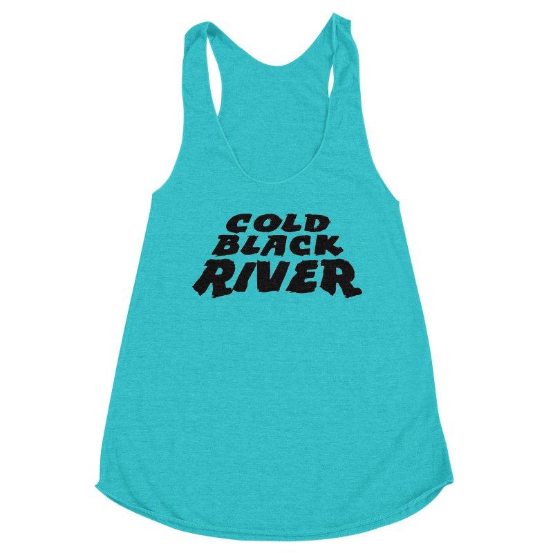 Cold Black River Original Logo Women's Racerback Triblend Tank by COLD BLACK RIVER