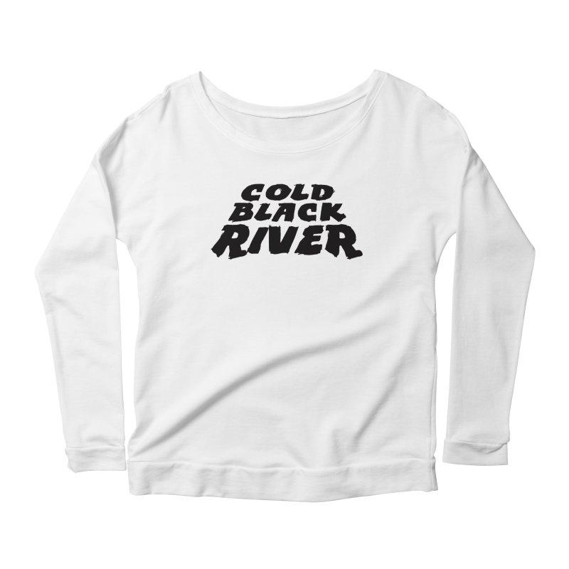 Cold Black River Original Logo Women's Scoop Neck Longsleeve T-Shirt by COLD BLACK RIVER