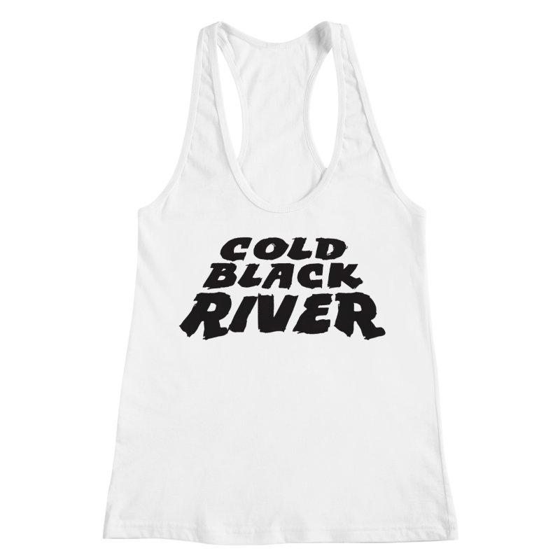 Cold Black River Original Logo Women's Racerback Tank by COLD BLACK RIVER