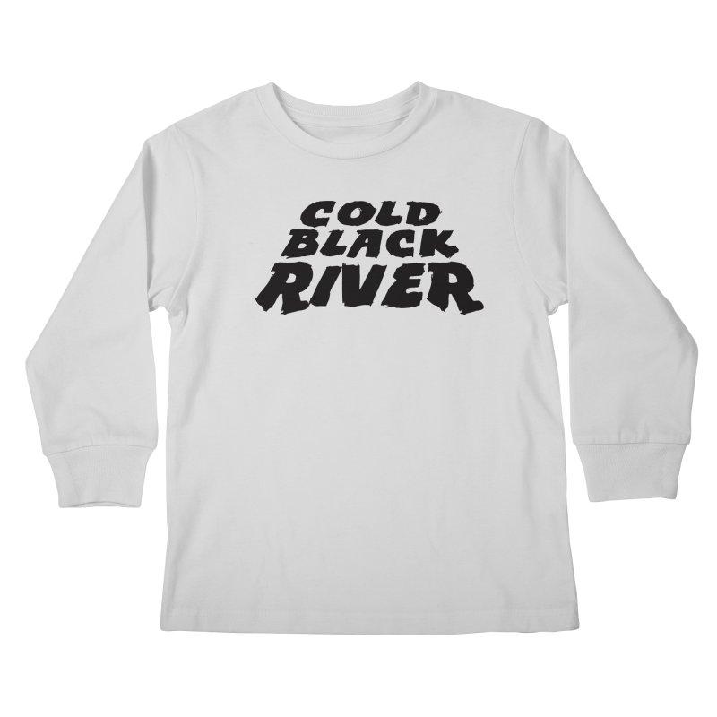 Cold Black River Original Logo Kids Longsleeve T-Shirt by COLD BLACK RIVER