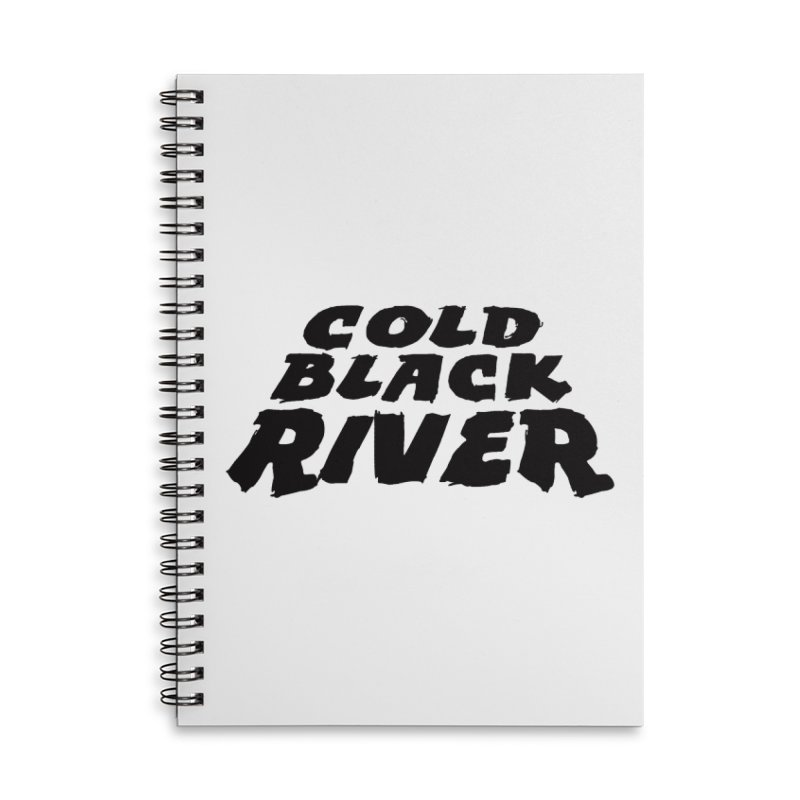 Cold Black River Original Logo Accessories Lined Spiral Notebook by COLD BLACK RIVER