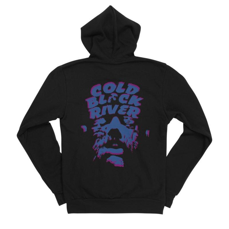 Cold Black River ORIGINAL T-Shirt Women's Sponge Fleece Zip-Up Hoody by COLD BLACK RIVER