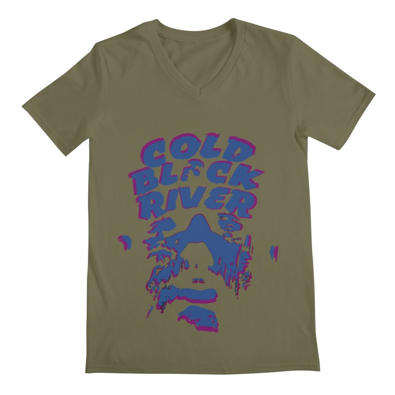 Cold Black River ORIGINAL T-Shirt Men's Regular V-Neck by COLD BLACK RIVER