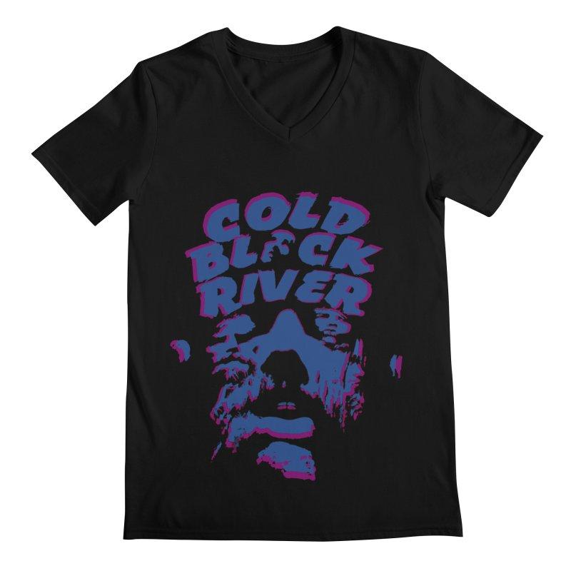 Cold Black River ORIGINAL T-Shirt Men's Regular V-Neck by COLD BLACK RIVER