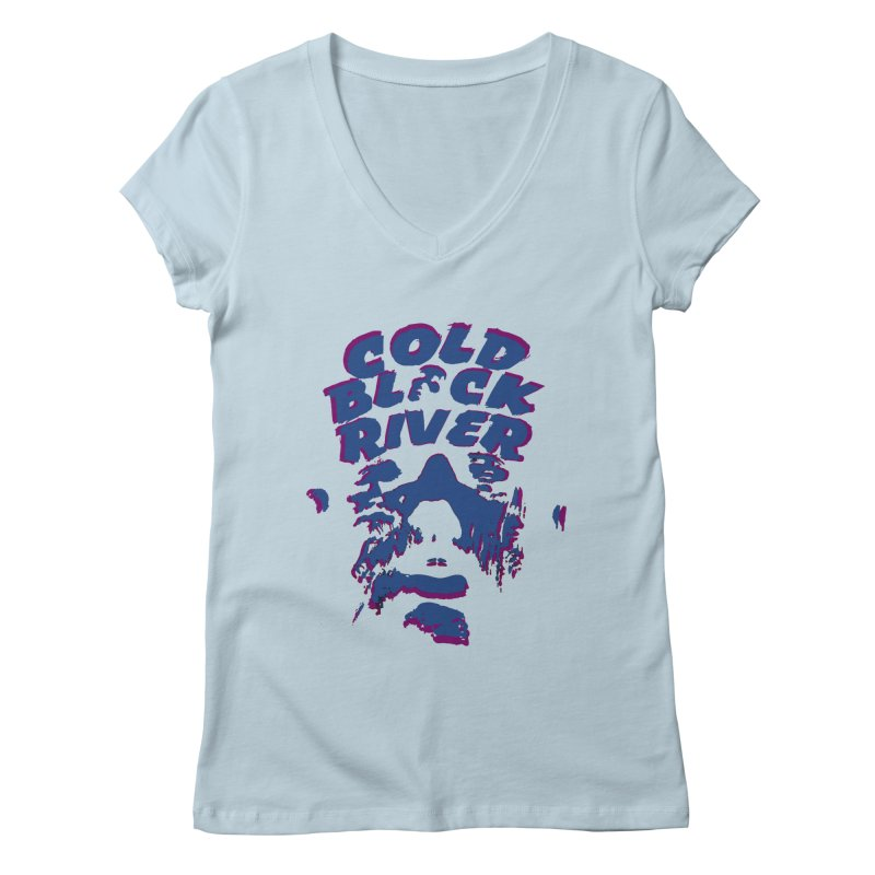 Cold Black River ORIGINAL T-Shirt Women's Regular V-Neck by COLD BLACK RIVER
