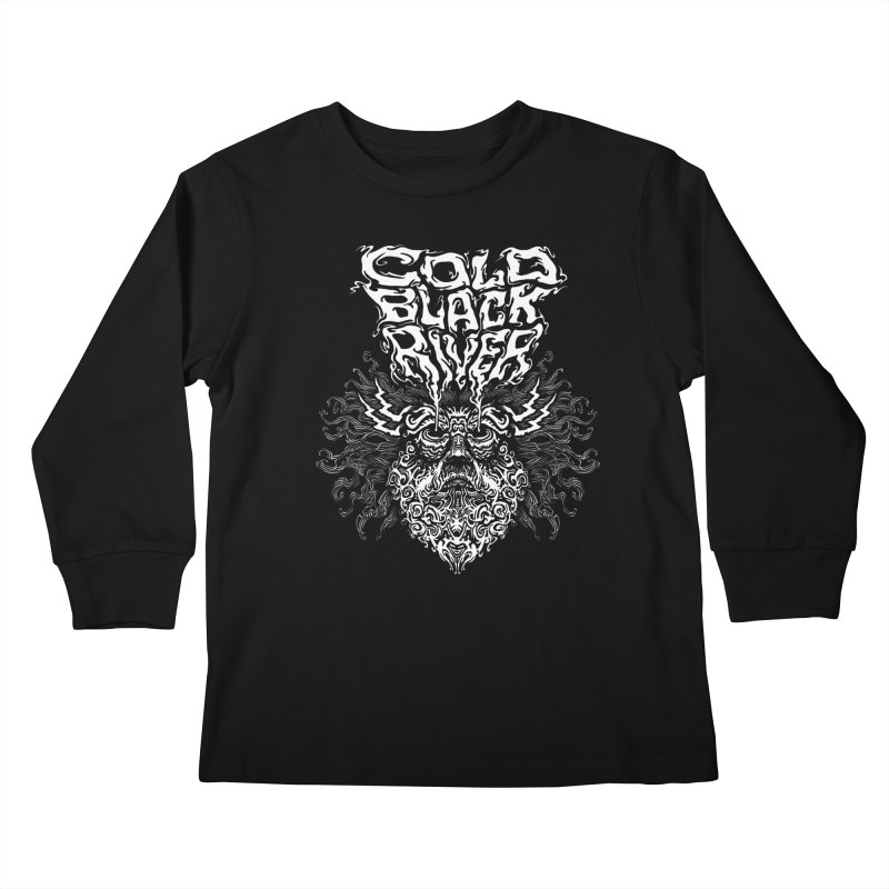 Hillbilly Zeus Kids Longsleeve T-Shirt by COLD BLACK RIVER