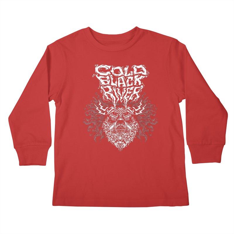 Hillbilly Zeus Kids Longsleeve T-Shirt by COLD BLACK RIVER
