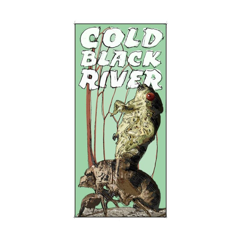 Cold Black River Poster 001 Home Blanket by COLD BLACK RIVER