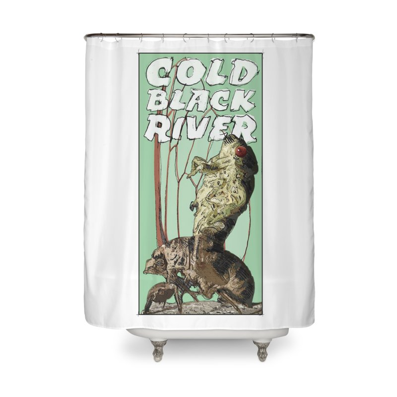Cold Black River Poster 001 Home Shower Curtain by COLD BLACK RIVER