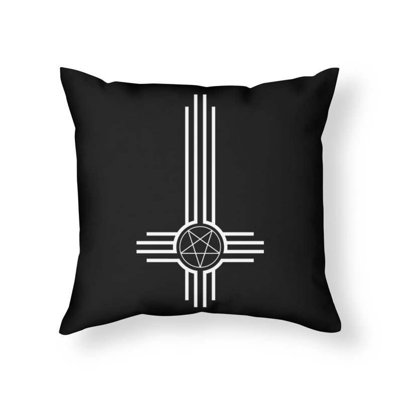 Nuevo Satanismo Home Throw Pillow by Cold Lantern Collection